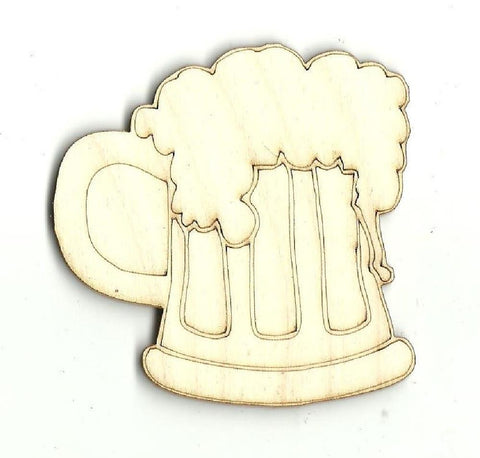 Beer - Laser Cut Wood Shape Fod4 Craft Supply