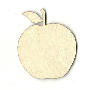 Apple - Laser Cut Wood Shape Fod50 Craft Supply