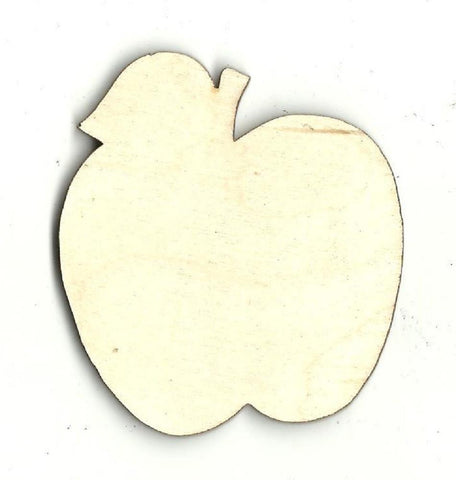 Apple - Laser Cut Wood Shape Fod100 Craft Supply