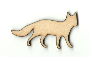 Fox - Laser Cut Wood Shape Fox11 Craft Supply