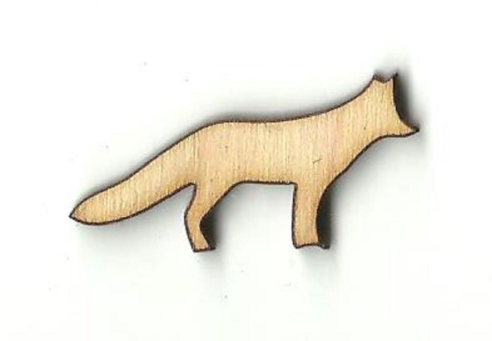 Fox - Laser Cut Wood Shape Fox9 Craft Supply