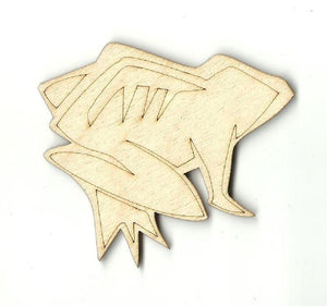 Frog - Laser Cut Wood Shape Frg6 Craft Supply