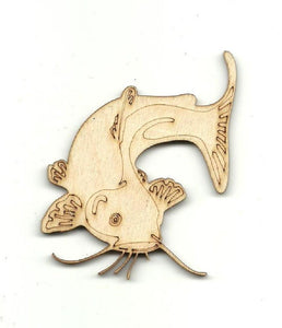 Catfish - Laser Cut Wood Shape Fsh10 Craft Supply