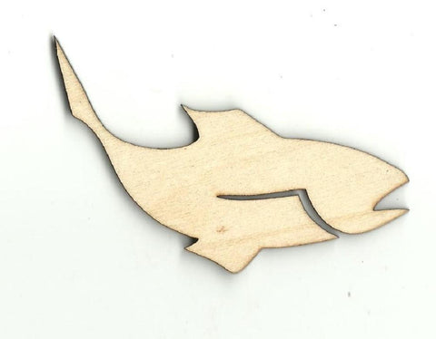 Fish - Laser Cut Wood Shape Fsh32 Craft Supply