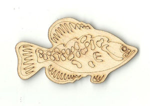 Fish - Laser Cut Wood Shape Fsh11 Craft Supply