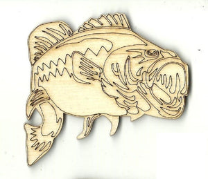 Fish - Laser Cut Wood Shape Fsh13 Craft Supply