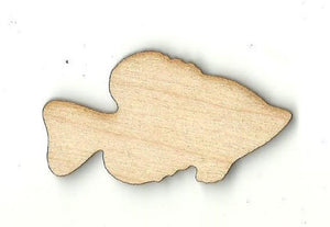 Fish - Laser Cut Wood Shape Fsh17 Craft Supply