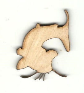 Fish - Laser Cut Wood Shape Fsh23 Craft Supply