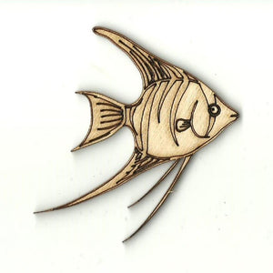 Angelfish - Laser Cut Wood Shape Fsh44 Craft Supply
