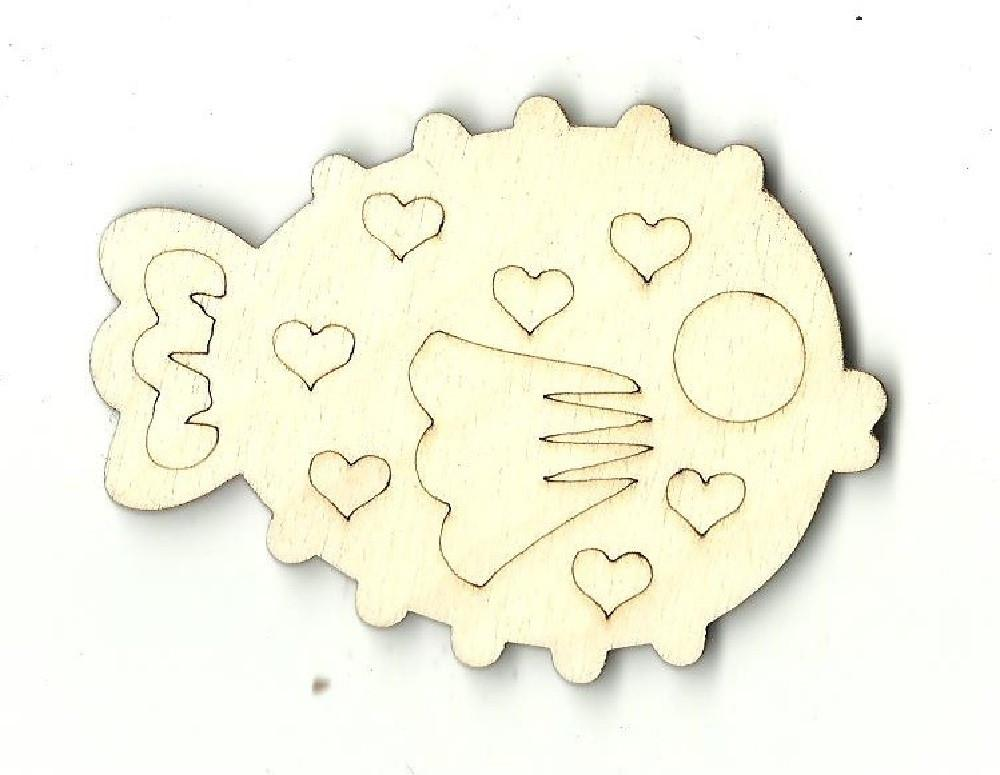 Puffer Fish - Laser Cut Wood Shape Fsh6 Craft Supply
