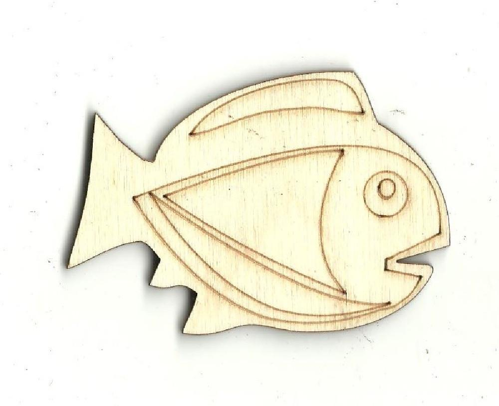 Fish - Laser Cut Wood Shape Fsh7 Craft Supply
