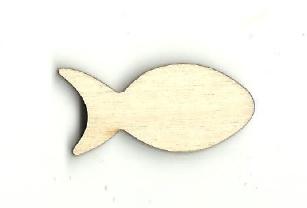 Fish - Laser Cut Wood Shape Fsh8 Craft Supply