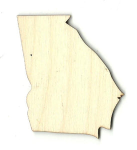 Georgia Us State - Laser Cut Wood Shape Craft Supply