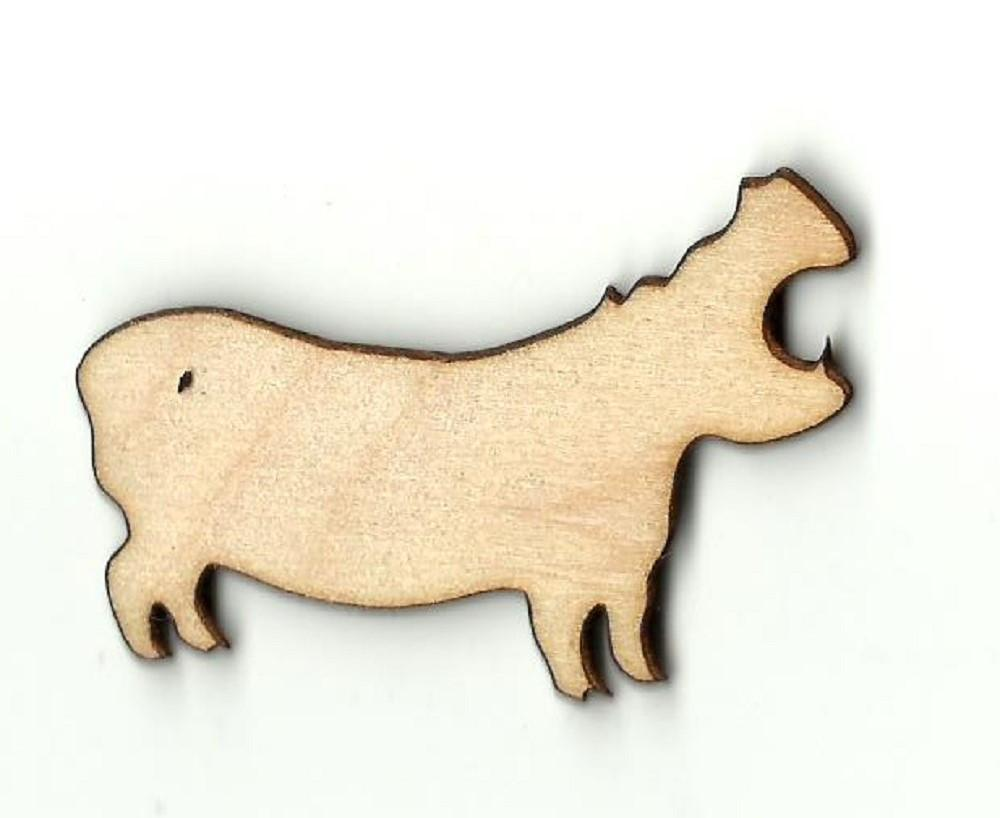 Hippo - Laser Cut Wood Shape Hip4 Craft Supply