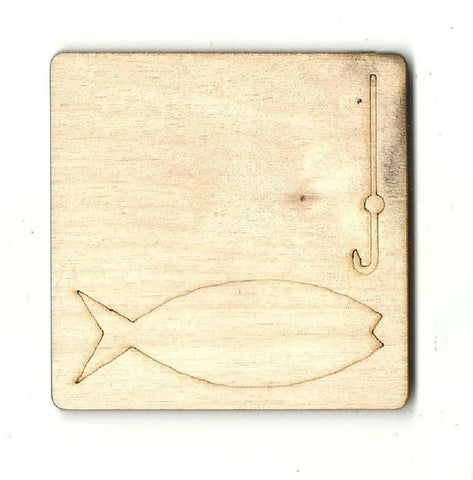 Fishing - Laser Cut Wood Shape Hnt15 Craft Supply