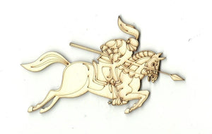 Knight On A Horse - Laser Cut Wood Shape Hrs10 Craft Supply