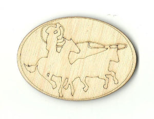 Bull Roping Cowboy - Laser Cut Wood Shape Hrs11 Craft Supply