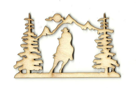 Cowboy Picture - Laser Cut Wood Shape Hrs13 Craft Supply