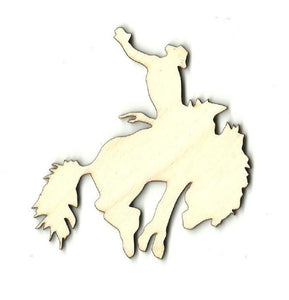 Bucking Bronco - Laser Cut Wood Shape Hrs14 Craft Supply