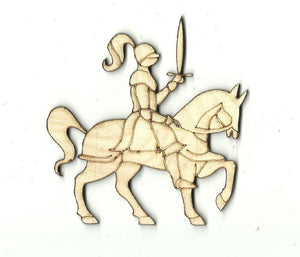 Knight On A Horse - Laser Cut Wood Shape Hrs2 Craft Supply