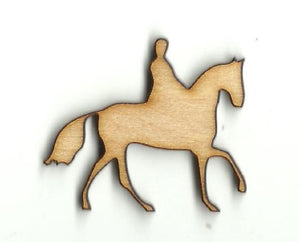 Horse & Rider - Laser Cut Wood Shape Hrs27 Craft Supply