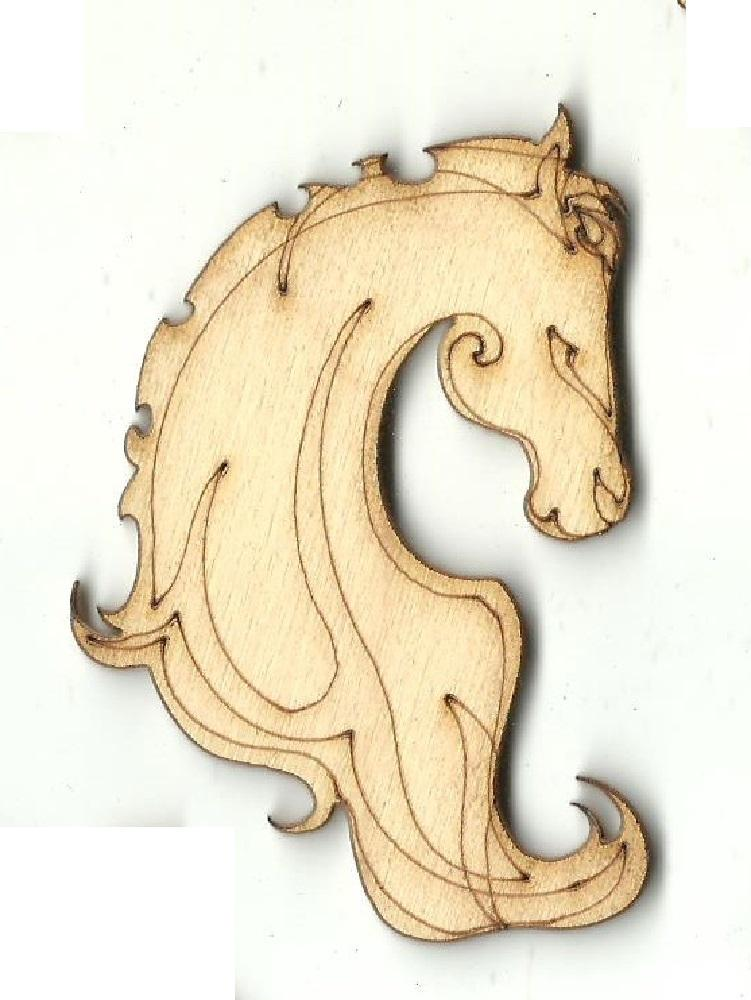 Horse - Laser Cut Wood Shape Hrs58 Craft Supply