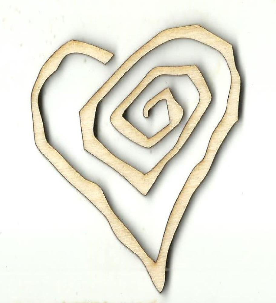 Heart - Laser Cut Wood Shape Hrt17 Craft Supply