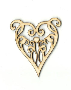 Heart - Laser Cut Wood Shape Hrt1 Craft Supply