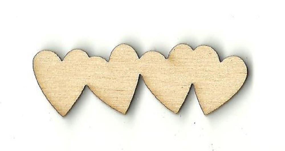 Chain Of Hearts - Laser Cut Wood Shape Hrt7 Craft Supply