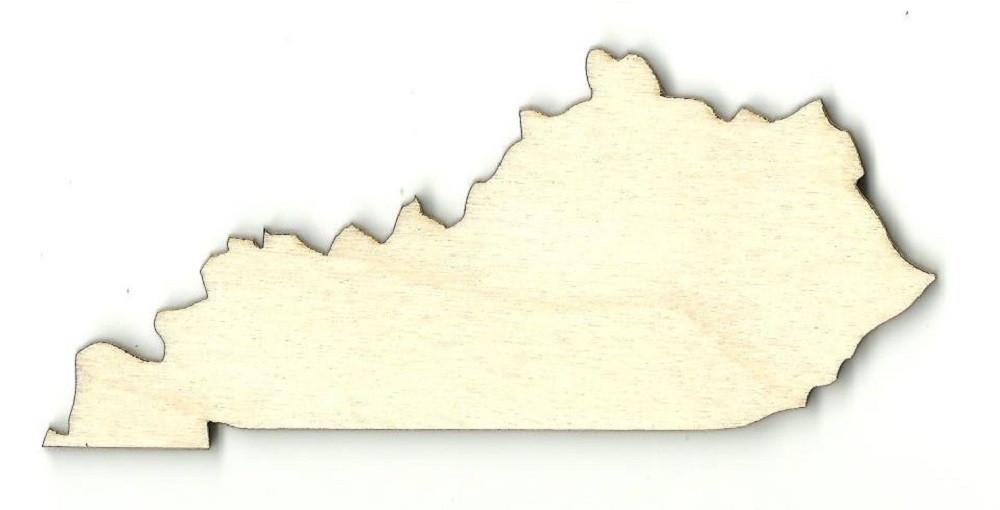 Kentucky Us State - Laser Cut Wood Shape Craft Supply