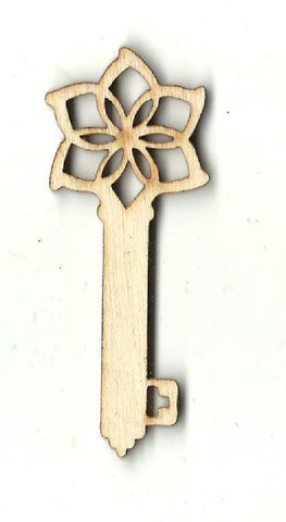 Skeleton Key - Laser Cut Wood Shape Key15 Craft Supply