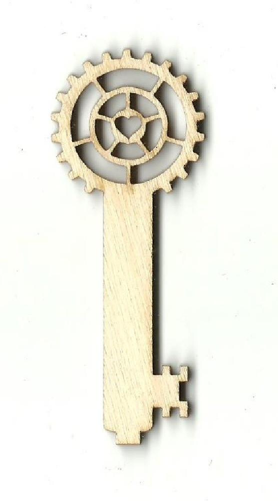 Skeleton Key - Laser Cut Wood Shape Key16 Craft Supply