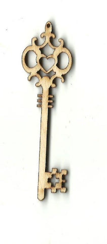 Skeleton Key - Laser Cut Wood Shape Key1 Craft Supply