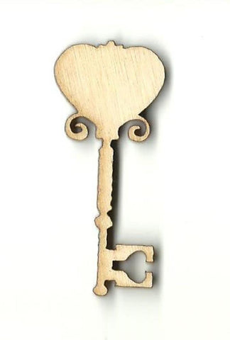 Skeleton Key - Laser Cut Wood Shape Key23 Craft Supply