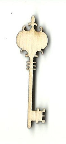 Skeleton Key - Laser Cut Wood Shape Key24 Craft Supply