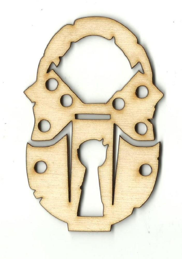 Skeleton Key Lock - Laser Cut Wood Shape Key33 Craft Supply