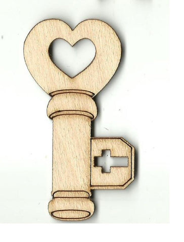 Key - Laser Cut Wood Shape Key36 Craft Supply