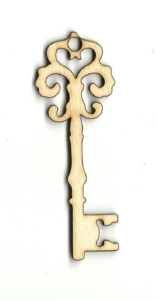 Skeleton Key - Laser Cut Wood Shape Key31 Craft Supply