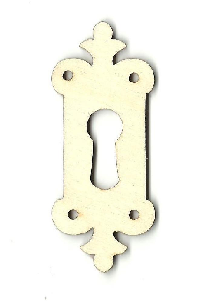 Skeleton Key Hole - Laser Cut Wood Shape Key6 Craft Supply