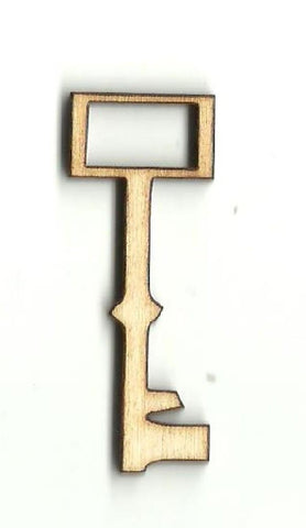 Skeleton Key - Laser Cut Wood Shape Key29 Craft Supply