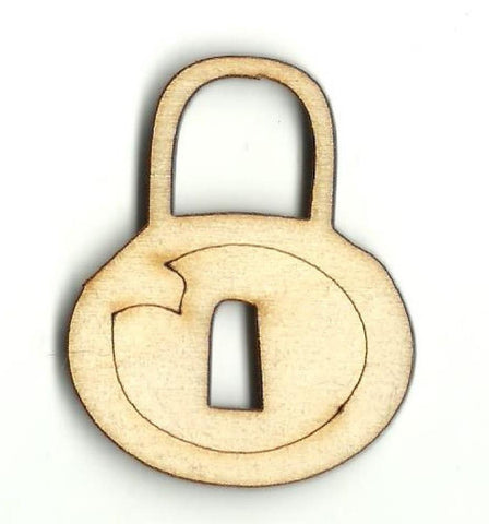 Padlock - Laser Cut Wood Shape Key28 Craft Supply
