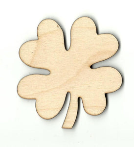 Four Leaf Clover - Laser Cut Wood Shape Lef17 Craft Supply