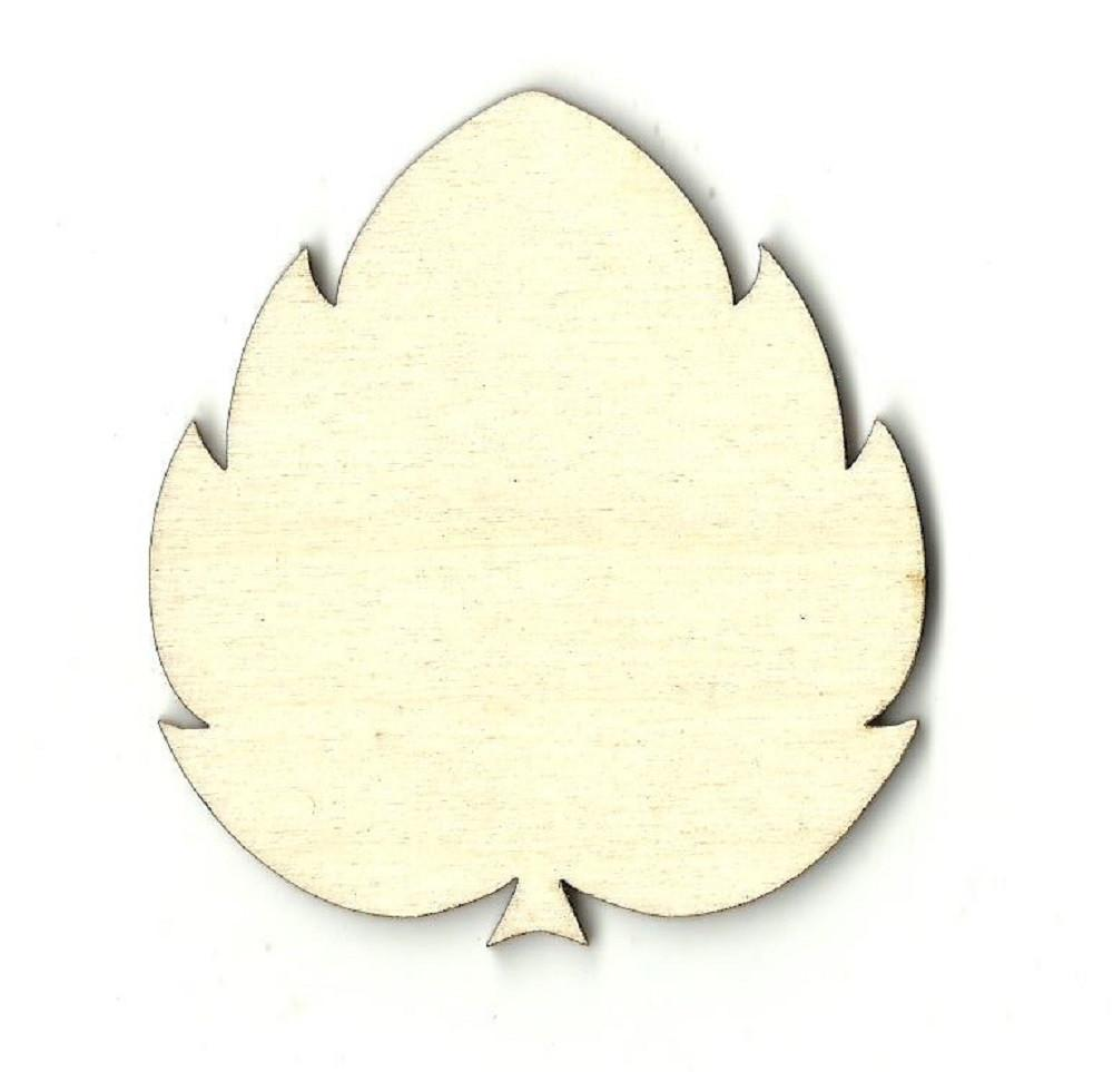 Leaf - Laser Cut Wood Shape Lef19 Craft Supply