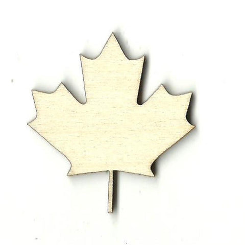 Canadian Leaf - Laser Cut Wood Shape Lef2 Craft Supply