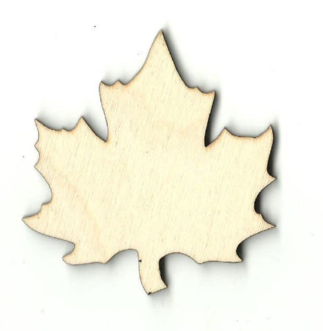 Maple Leaf - Laser Cut Wood Shape Lef30 Craft Supply