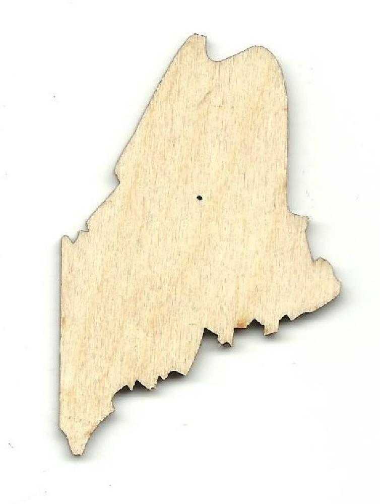 Maine Us State - Laser Cut Wood Shape Craft Supply