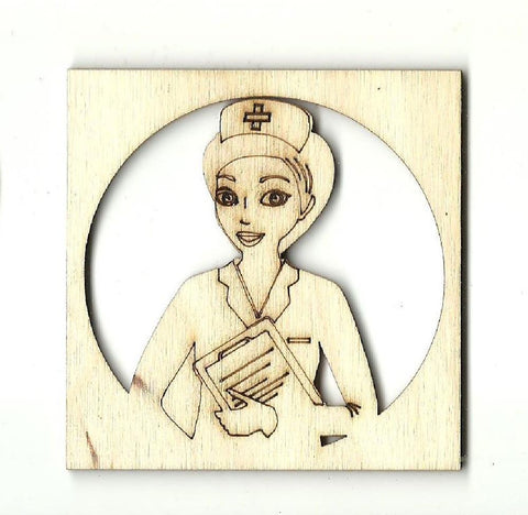 Nurse - Laser Cut Wood Shape Med5 Craft Supply