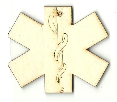 Medical Sign - Laser Cut Wood Shape Med8 Craft Supply