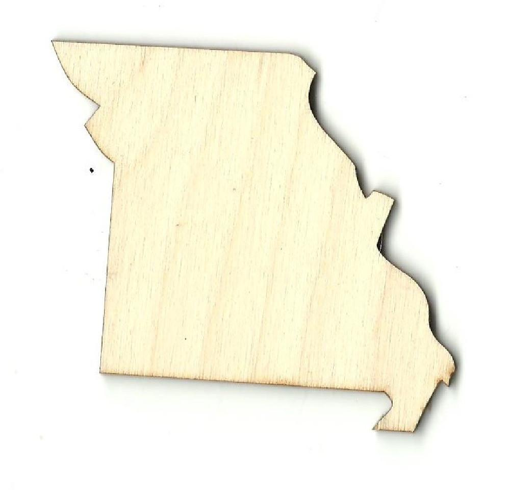 Missouri Us State - Laser Cut Wood Shape Craft Supply
