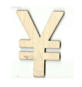 Yen Symbol - Laser Cut Wood Shape Mny2 Craft Supply